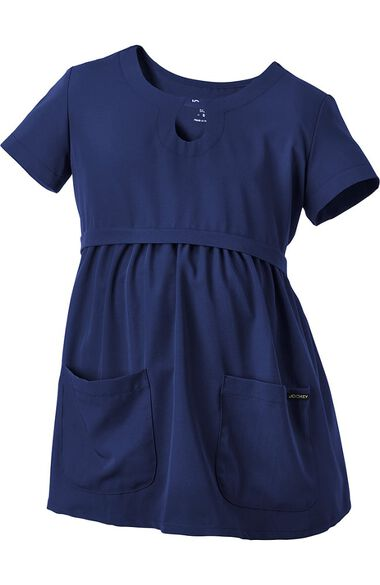 Women's Maternity Empire Waist Solid Scrub Top, , large