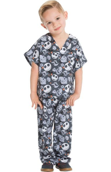 Unisex Kids Boogie With Jack Print Scrub Set, , large