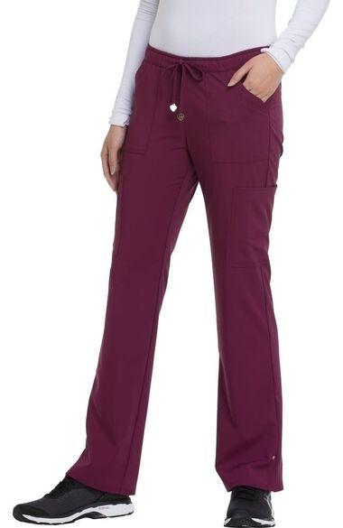 Women's Charmed Low Rise Drawstring Cargo Scrub Pant, , large