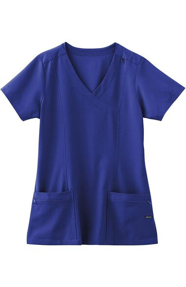 Clearance Women's Mock Wrap Scrub Top, , large