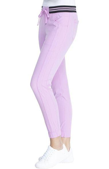 Clearance Women's Striped Waist Jogger Scrub Pant, , large