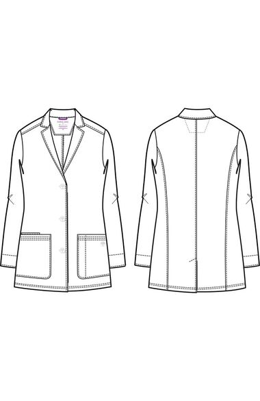 "Women's Faith Notched Collar 31"" Lab Coat, , large"