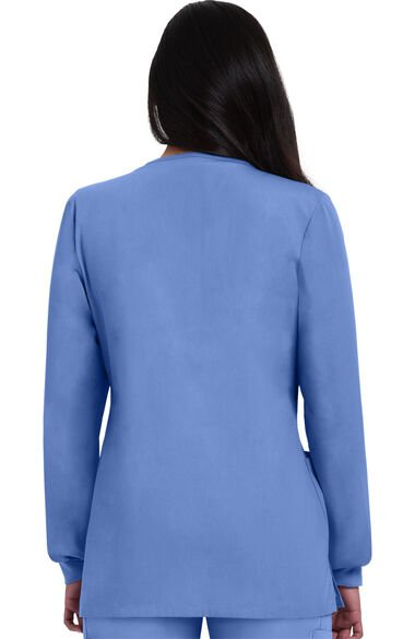 Women's Solid Scrub Jacket with Tablet Pocket, , large
