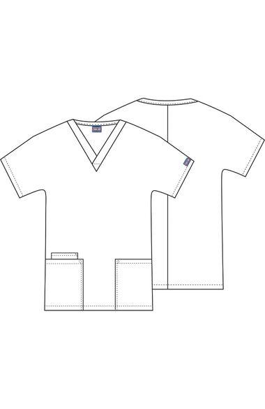 Women's V-Neck 2 Pocket Dots Wonderful Print Scrub Top, , large