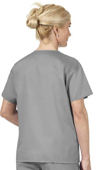 Unisex V-Neck Solid Scrub Top, , large