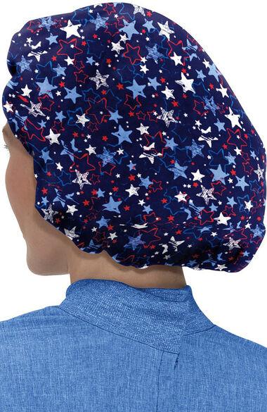 Unisex Bouffant Americana Print Scrub Cap, , large