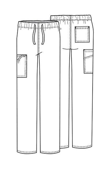 Clearance Men's Drawstring Cargo Scrub Pant, , large