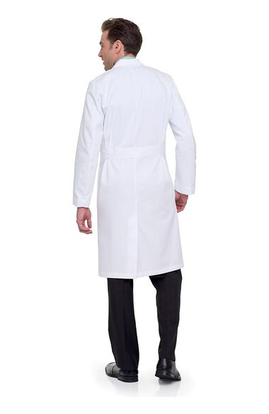 "Clearance Men's 3-Pocket Full Length Twill 43½"" Lab Coat, , large"