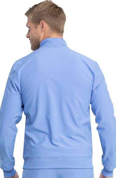 Men's Warm Up Solid Scrub Jacket, , large