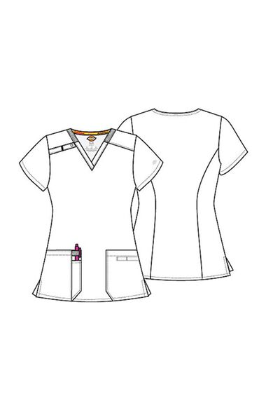 Women's V-Neck Solid Scrub Top, , large