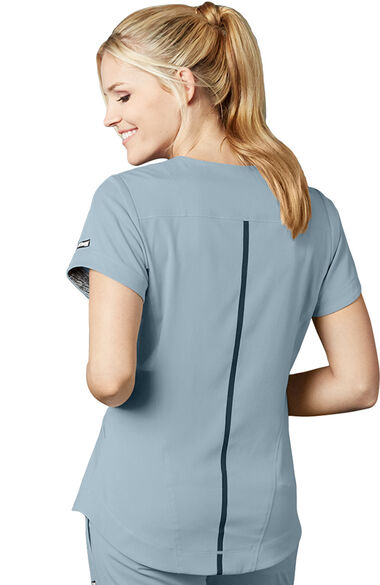 iMPACT by Grey's Anatomy Women's Seamed V-Neck Solid Scrub Top, , large