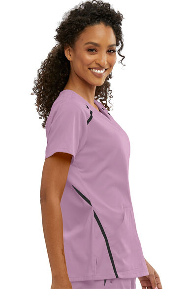 iMPACT by Grey's Anatomy Women's V-Neck Solid Scrub Top, , large