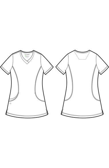 Women's Sloan Solid Scrub Top, , large