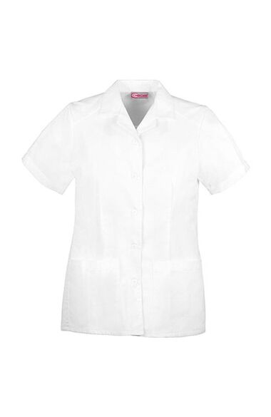 Women's Nurse's Pleated Solid Scrub Top, , large