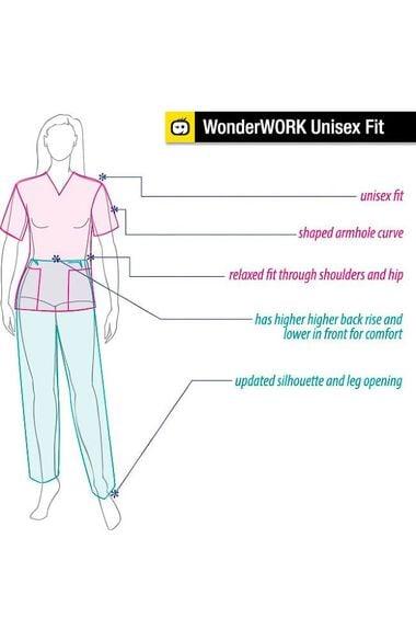 Unisex Snap Front Scrub Jacket, , large