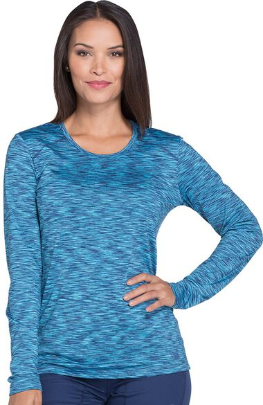 Clearance Women's Long Sleeve Solid Underscrub T-Shirt, , large