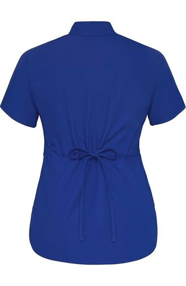 Clearance Women's Asian with Self Trim Solid Scrub Top, , large