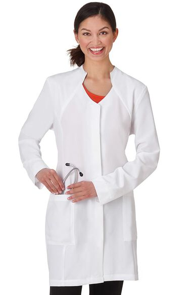 """Clearance Women's Stand Collar 35"""" Lab Coat, , large"""