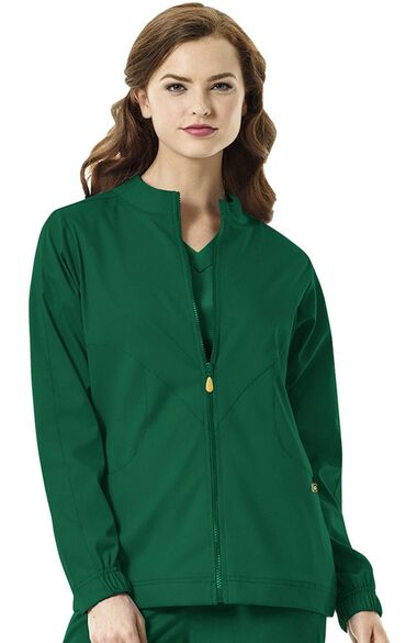 Clearance Next by Women's Boston Zip Front Warm Up Scrub Jacket, , large