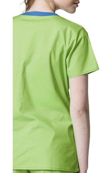 Women's Patience Curved Notch Solid Scrub Top, , large