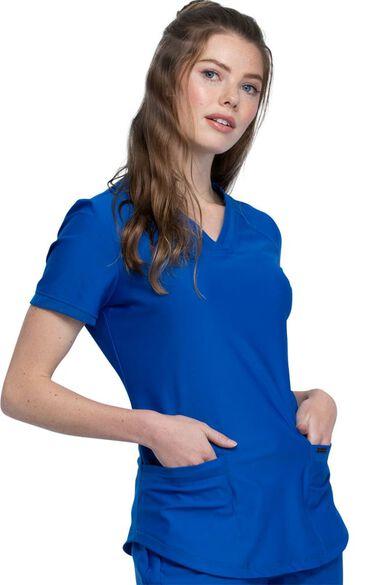 Women's V-Neck Scrub Top, , large