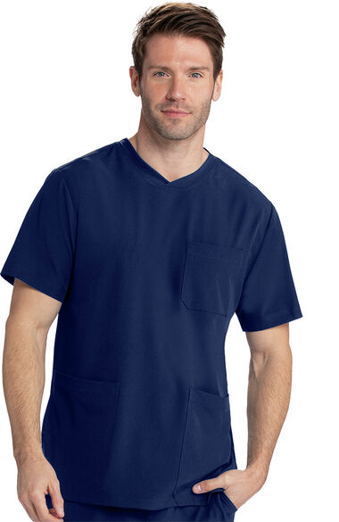 Men's Vitality Solid Scrub Top, , large
