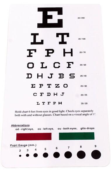 Snellen Pocket Eye Chart, , large