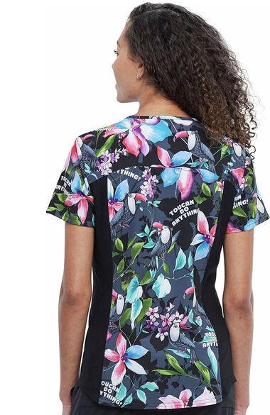 Women's Toucan Do Anything Print Scrub Top, , large