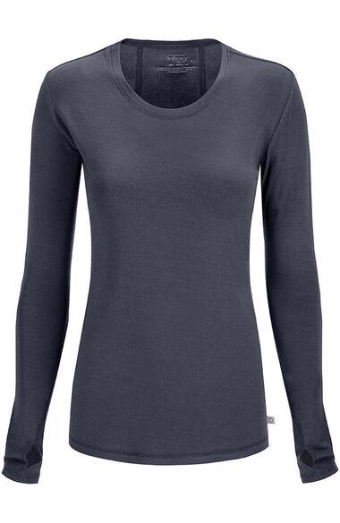 Women's Round Neck Long Sleeve Underscrub, , large