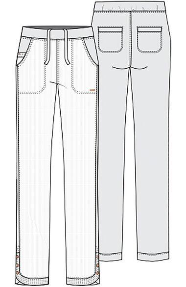 Women's Flared Leg Scrub Pant, , large