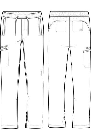 Men's Noah Drawstring Cargo Scrub Pant, , large