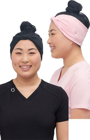 Clearance Women's 2 Color Combo Twisted Headband Set, , large