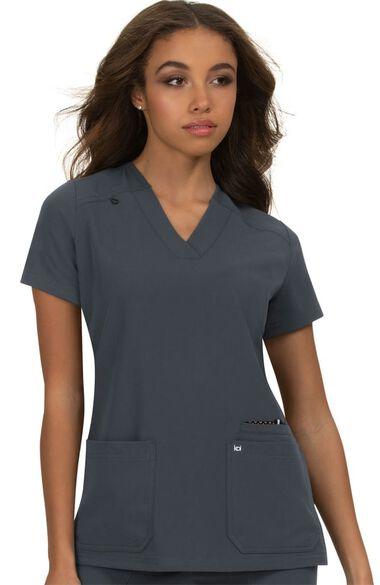 Women's Hustle & Heart Solid Scrub Top, , large