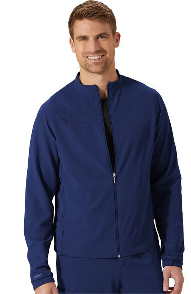 Unisex Zip And Go Solid Scrub Jacket, , large
