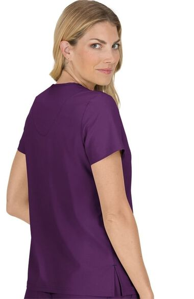 Women's Becca V-Neck Solid Scrub Top, , large
