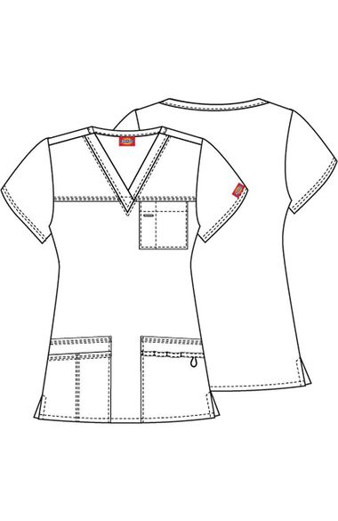 Women's Youtility Solid Scrub Top, , large