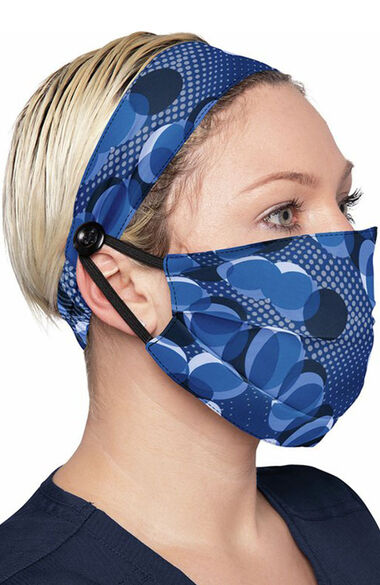Women's Print Headband & Mask Combo, , large