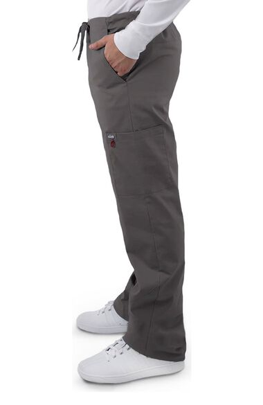 Clearance Unisex V-Neck Solid Scrub Top & Cargo Scrub Pant Set, , large