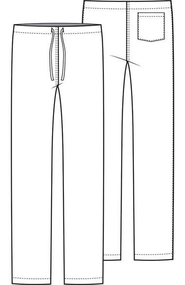 Unisex Drawstring Scrub Pant, , large