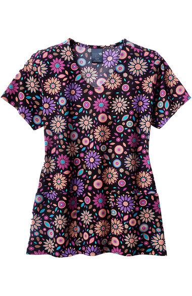 Women's Floral Frenzy Print Scrub Top, , large