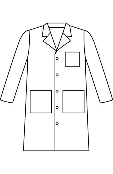 "Men's 3-Pocket Full Length Poplin 41½"" Lab Coat, , large"