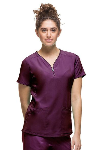 Women's Sonia Stretch Solid Scrub Top, , large