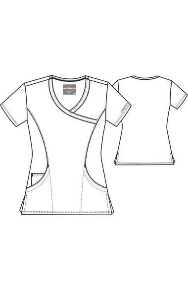 Women's Reliance Mock Wrap Solid Scrub Top, , large