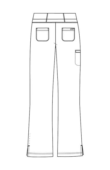 Clearance Women's Flare Leg Knit Waistband Cargo Scrub Pant, , large