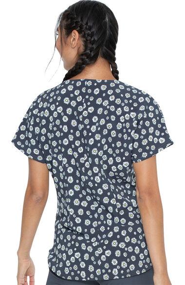 Women's Daisy Drizzle Print Scrub Top, , large