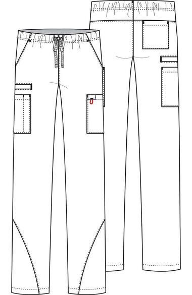 Unisex Drawstring Cargo Scrub Pant, , large