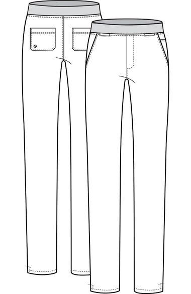 Women's Elastic Waistband Skinny Scrub Pant, , large