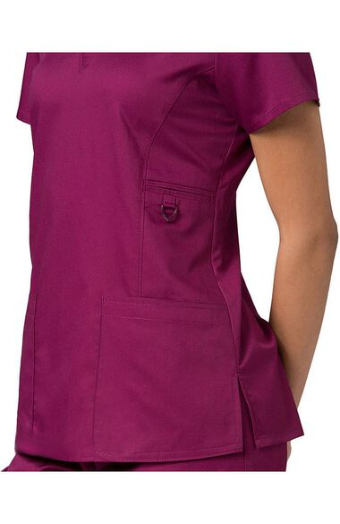 Women's COOLMAX V-Neck Solid Scrub Top, , large
