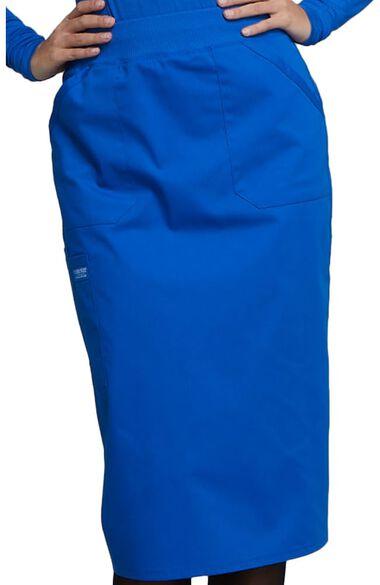 Women's Elastic Waistband Pull On Scrub Skirt, , large