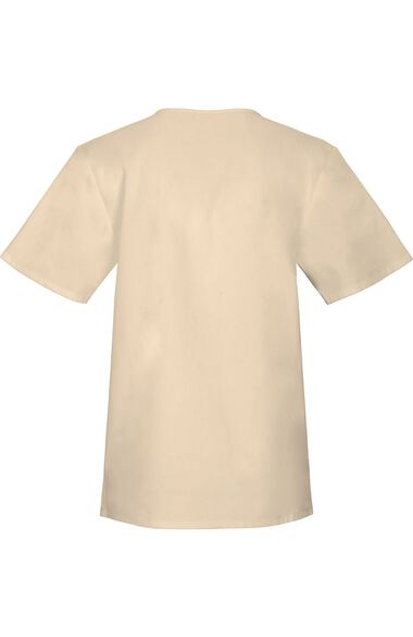 Clearance Unisex Chest Pocket V-Neck Solid Scrub Top, , large